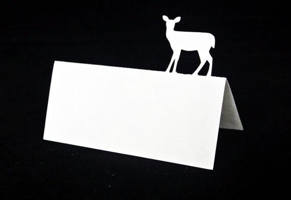 Hinde Vrouwelijke Herten Silhouet Tented Escort Nummer Plaats Kaarten Huwelijksvrijgezellenfeest Tafel Zitplaatsen Receptie Markerspc001
