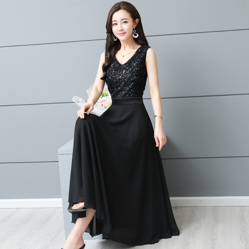Plus Size Appliques Embellished Sarafan Sleeveless White Dress Chic Summer  Dress Pastel Lace Vestido Longo Fashion 71662a862b00