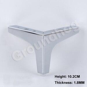 Image 5 - 4Pcs גובה 10.2/13.6/15.2/16.8CM ספה כיסא רגליים ארון ארון ריהוט רגל רגליים רגליים עם ברגים