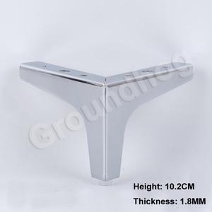 Image 5 - Pieds de chaise, canapé et placard, 4 pièces, pieds avec vis, hauteur de 10.2/13.6/15.2/16.8CM