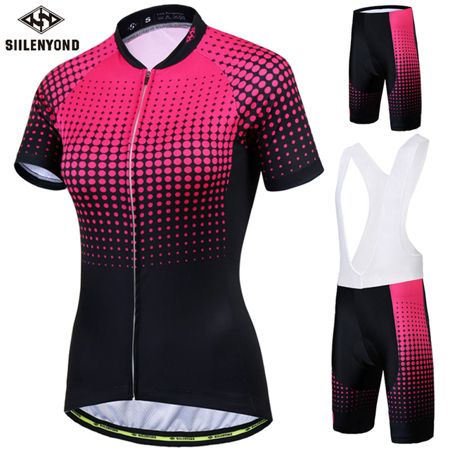 358aa8127 Siilenyond Pro Women s Cycling Jersey Set Road Bike Wear Cycling Clothes  Suit Breathable Mountain Bicycle Cycling Clothing Suit