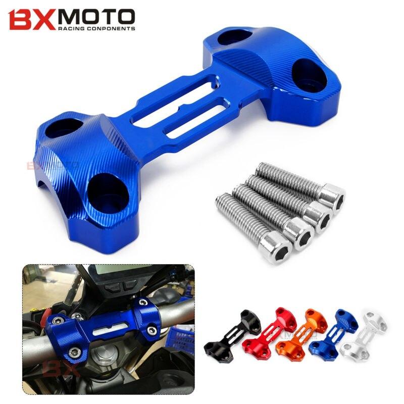 Mt09 mt 09 accesorios de la motocicleta azul de aluminio tapa superior abrazader