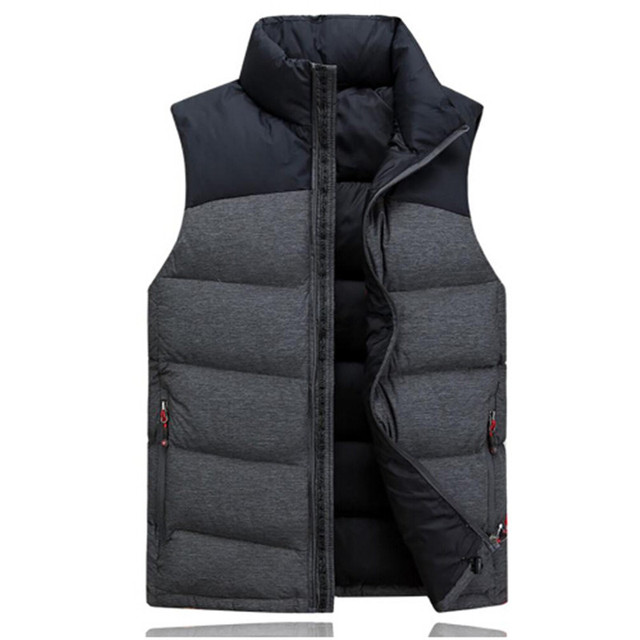 Tengo New Fashion Autumn Winter Men 70% White Duck Down Vest High Quality Male Casual Sleeveless Jacket Waistcoat Light Coat