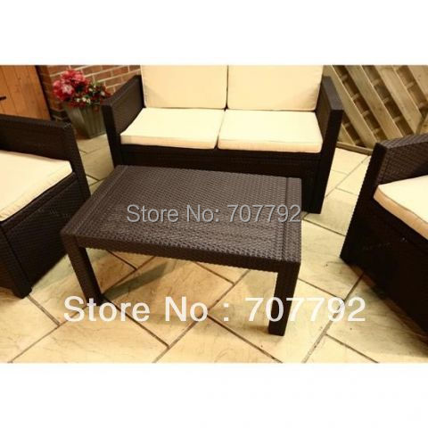 outdoor rattan garden furniture 4 seater lounge sofa set aliexpress mobile - Rattan Garden Furniture 4 Seater