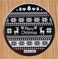 Diseño Redondo de Acero Inoxidable Placas de Uñas hehe60 Serie de navidad Nail Art Sello Estampado de Imagen Konad Stamping Manicura Plantilla