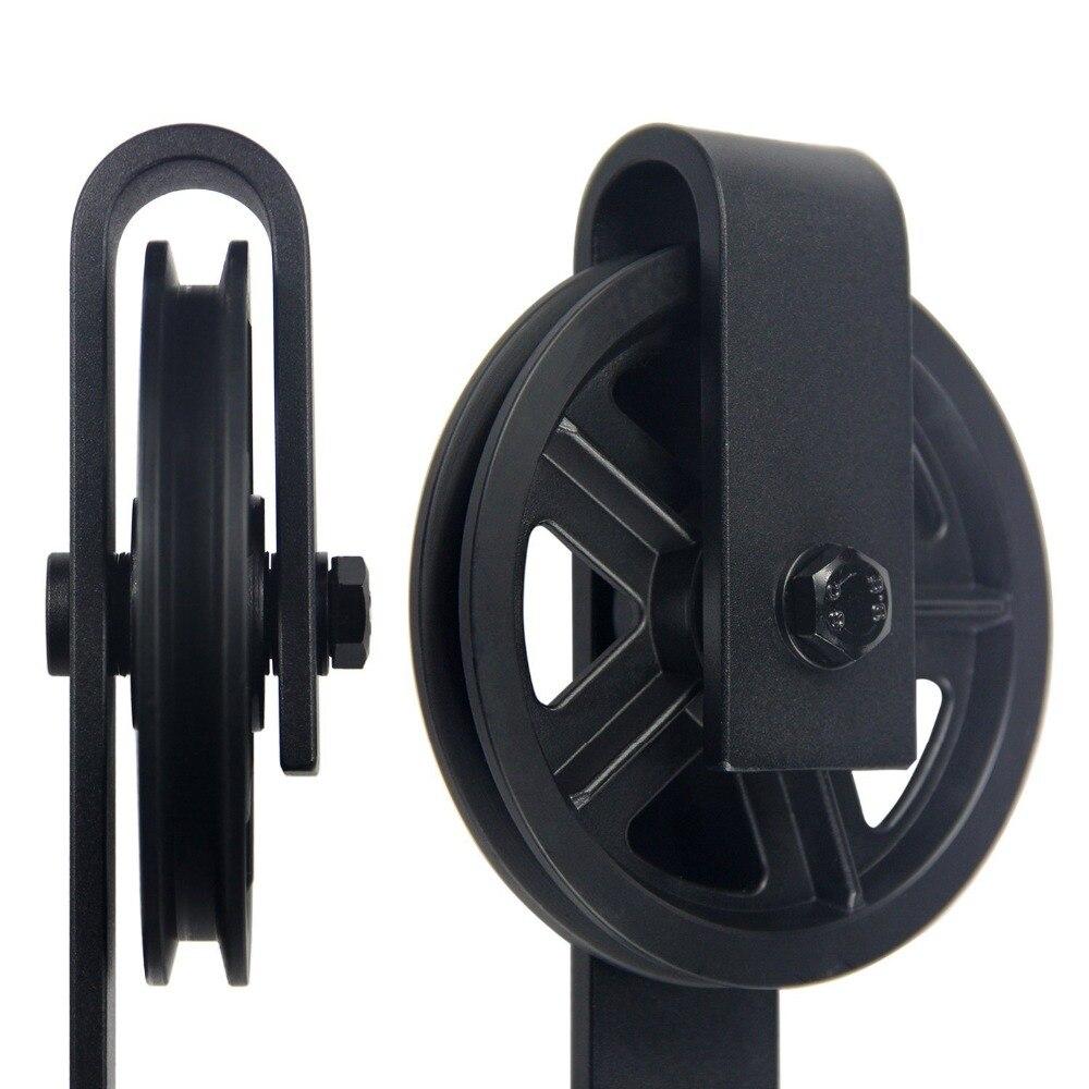 Quincaillerie de porte coulissante intérieure en acier au carbone noir 4.9FT/6FT/6.6FT - 2
