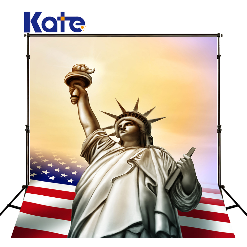 150Cmx200Cm(5Ftx6.5Ft) Kate Photographic Background Cotton American Statue Of  Liberty Retro Photography Background Dlr-10