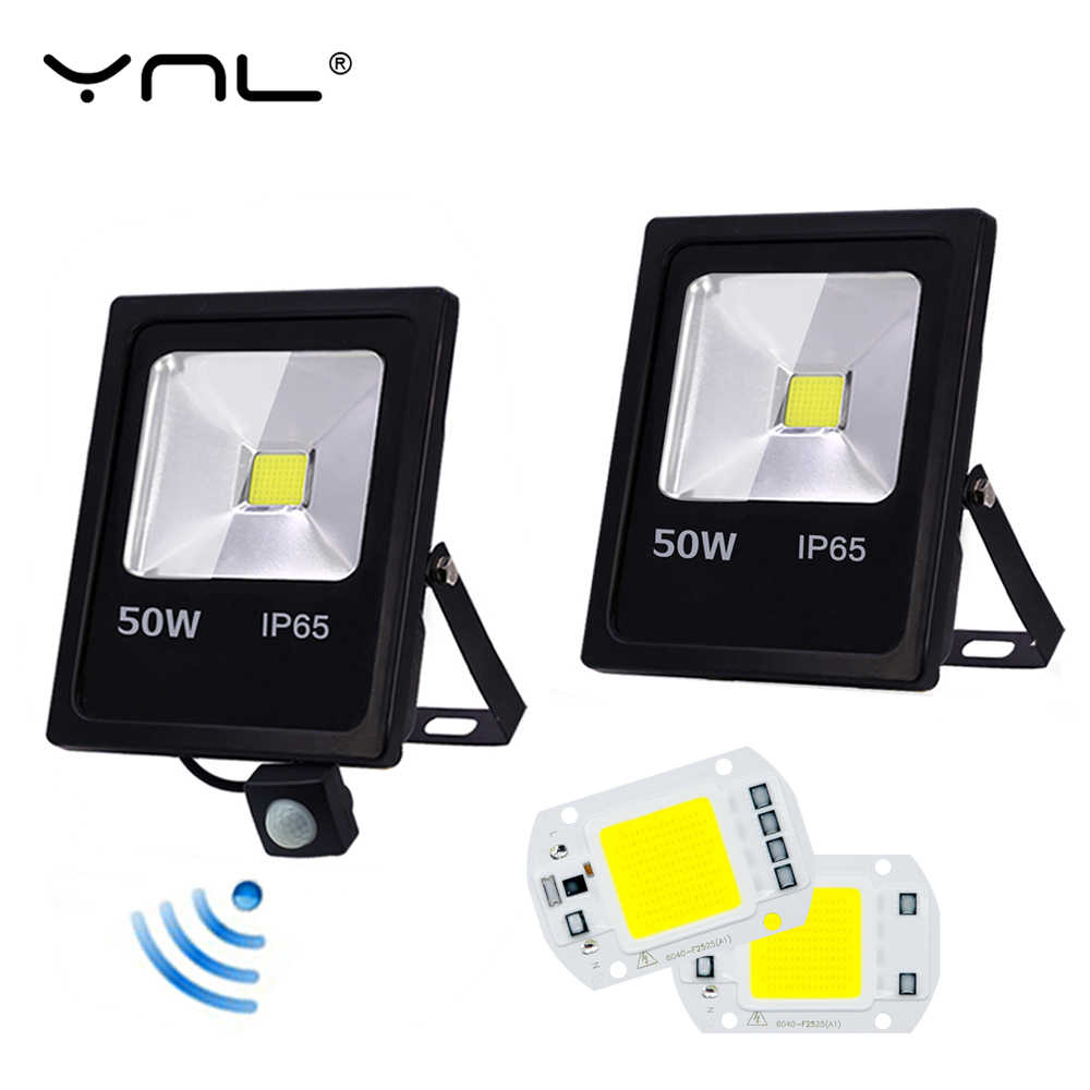 Motion Sensor LED Spot light 10W 30W 50W AC 220V Flood Light Waterproof IP65 Searching light Spotlights Lamp Led wall Lighting