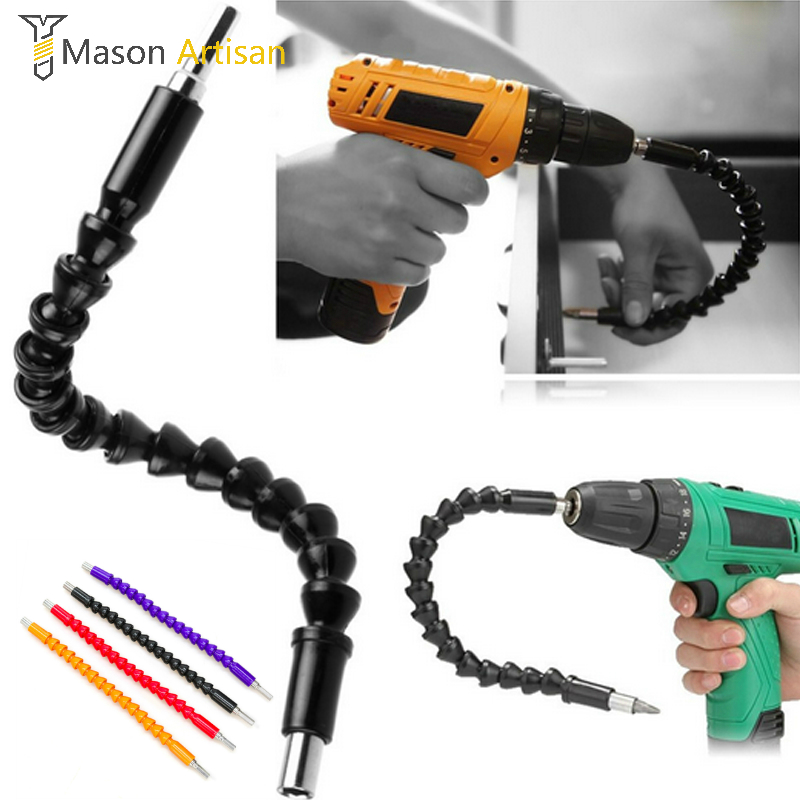 1Piece 290mm Flexible Shaft Bits Screwdriver Extension Bit Holder Magnetic Quick Connect Flexible Drill Shaft Dremel Accessories voto 400mm flexible shaft tool metal drill screwdriver bit holder connect link multitul hex shank extension snake bit