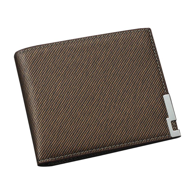 Men Wallet Leather Card Coin Holder Hot Sale 2017 Short Luxury Designer Slim Clip Cash Pocket Black Casual Male Purse Portomonee male leather casual short design wallet card holder pocket