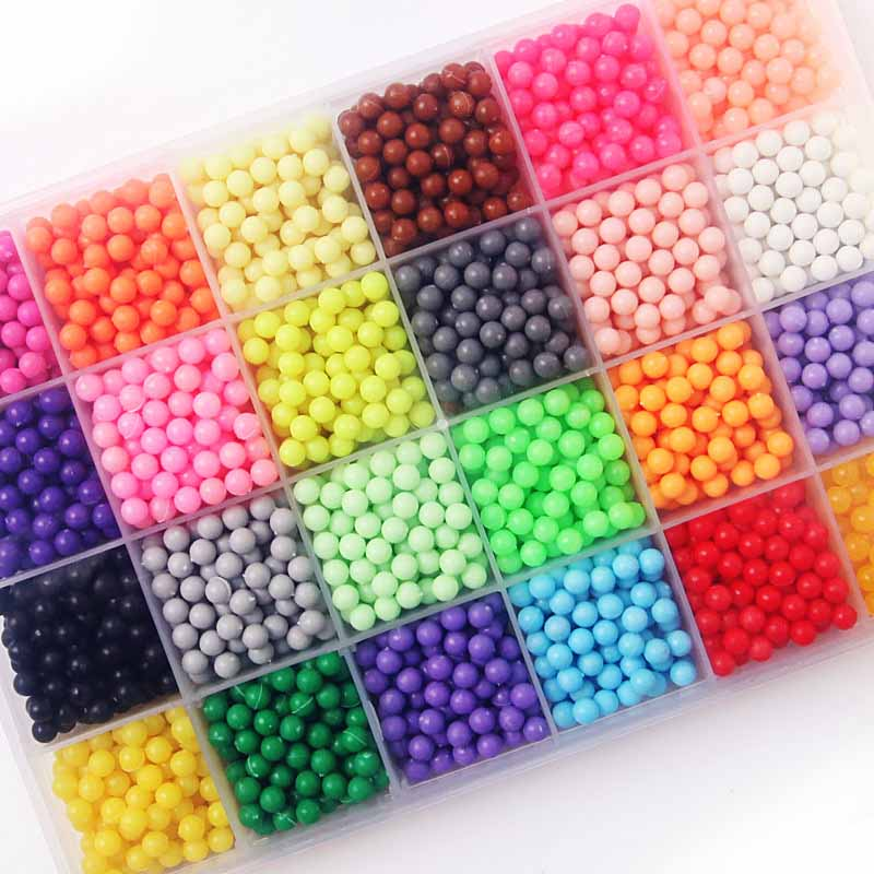 NEW Colors Aqua Beads Puzzle Choice 5mm Aquabeads Perlen Magic Water Beads Puzzles Toys Educational Kids Toys Puzzle Games стоимость