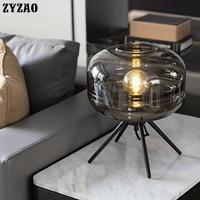 Modern Creative Glass Table Lamps Art Deco Bar Living Room Bedroom Bedside Table Light Designer Home Decor Model Room Desk Lamps