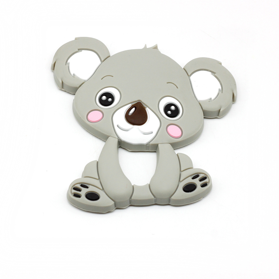 Baby Teether Koala 10pc Food Grade Silicone Accessories Crib Toy DIY Craft Nursing Teething Necklace Pendants Hot Mordedor Mom ...