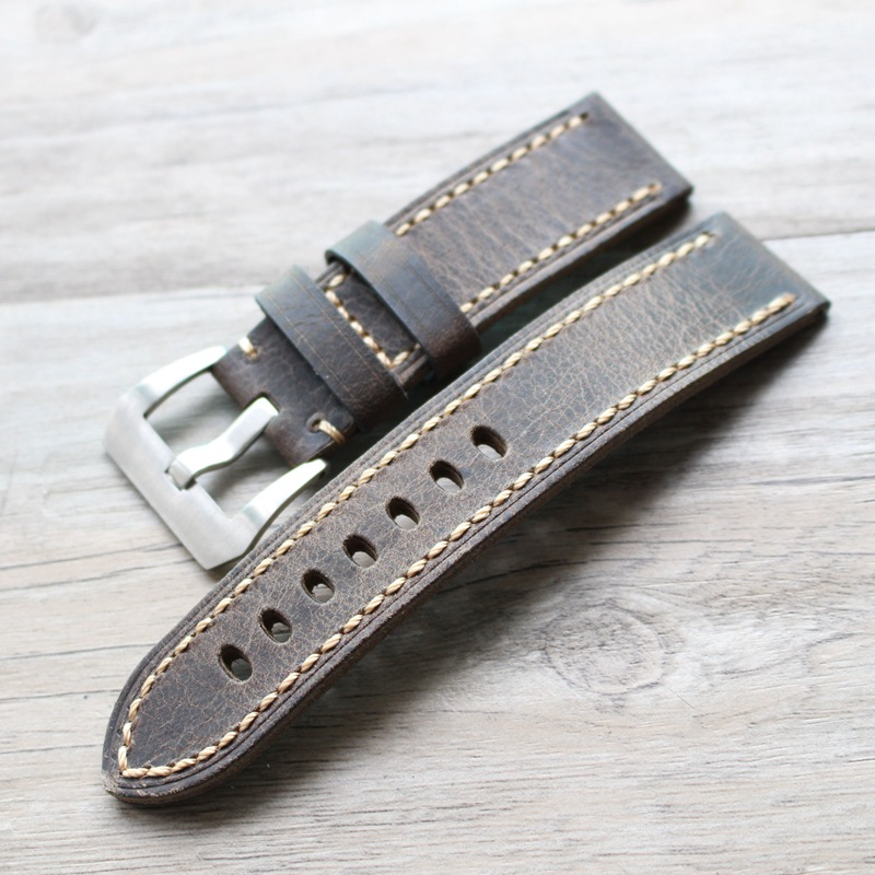 20mm 22mm 24mm 26mm Retro Brown Vintage Italy Calf Leather Watchband For PAM PAM111 PAM441/Panerai Pilot Watch Strap lukeni 24mm camo gray green blue yellow silicone rubber strap for panerai pam pam111 watchband bracelet can with or without logo