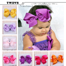Twdvs headbands headband bow band infant big girls elastic flower children