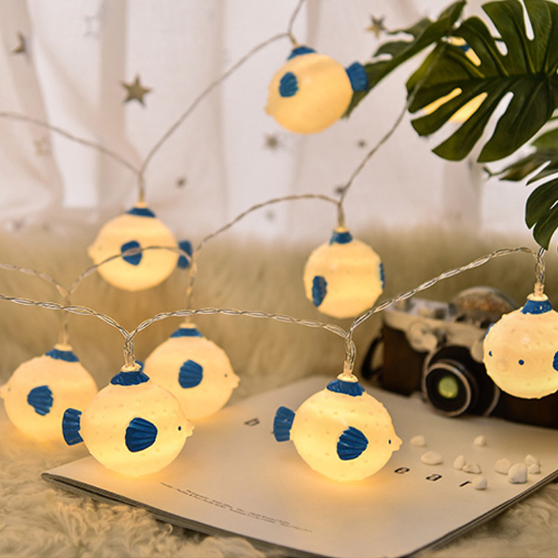 20Led Fairy Seahorse Starfish Battery Plug String Lights Luminaria 3m LED Decoration For Christmas Garland Led Lights Chain