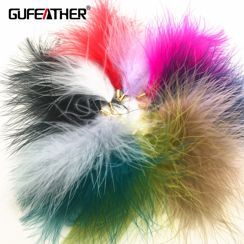 GUFEATHER L75/Ostrich Feather/jewelry Accessories/diy Earrings Findings/Jewelry Decoration/Feather Earrings/diy Making/2pcs
