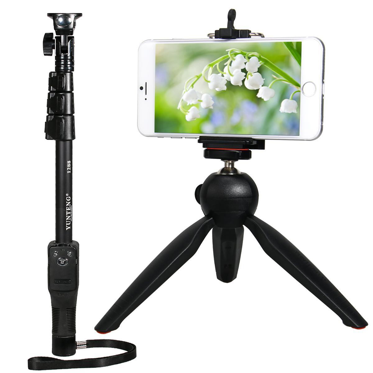 Yunteng Selfie Stick Bluetooth Wired Remote Shutter Handheld Monopod Tongsis Wireless Aeproductgetsubject