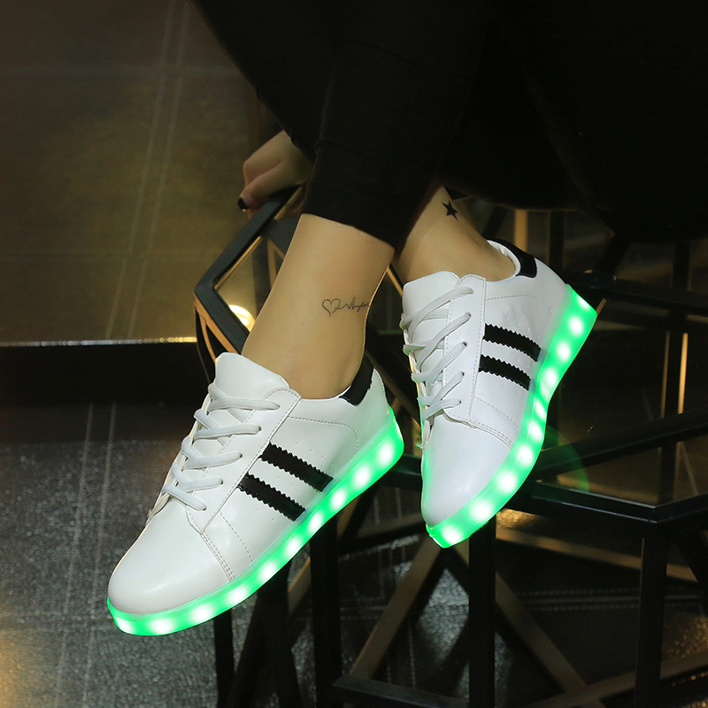 Scarpe Usb Lumineuse Che Femme Sport Chaussure Si Led
