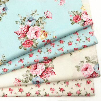 Buulqo 100% cotton twill  flower fabrics for DIY  Sewing textile tecido tissue patchwork bedding quilting 100x160cm pure cotton fabric cloth for baby bed sheet patchwork quilting twill bedding cartoon fabrics diy dolls sewing textile