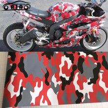 Premium Black Red Camouflage Film Car Wrap Foil Adhesive Aut