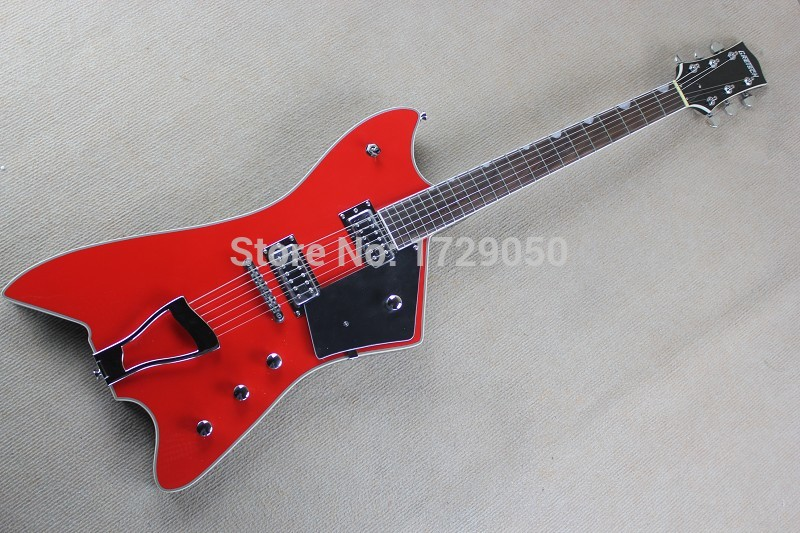 Free shopping factory custom New Arrival Billy-Bo Jupiter Gretsch Jazz large rocker Red electric guitar 1110
