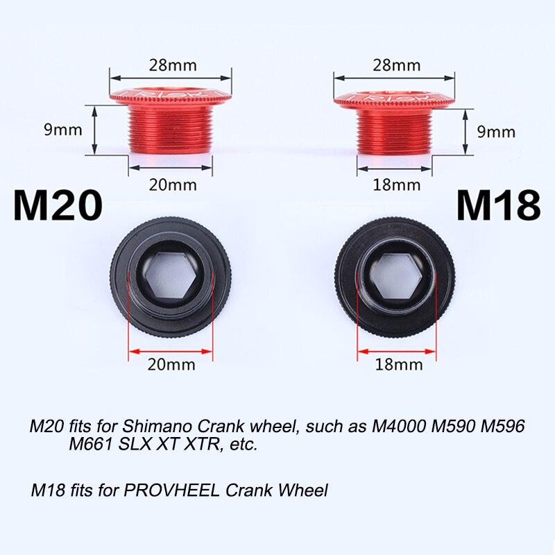 MTB Road Bike M20 Crankset Crank Cover Cap Fixing Bolt for SHIMANO XT SLX M4000