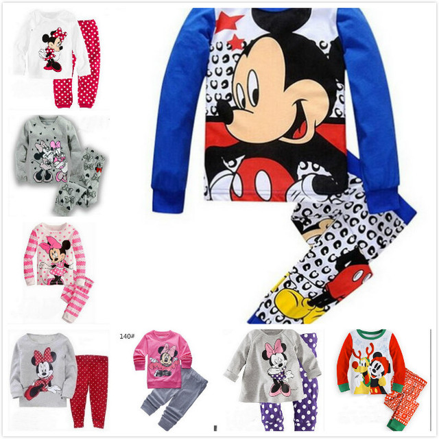 72aa546da 2 3 4 5 6 7 Years Baby 100% Cotton Clothes Suits Boys Girls Pajamas ...