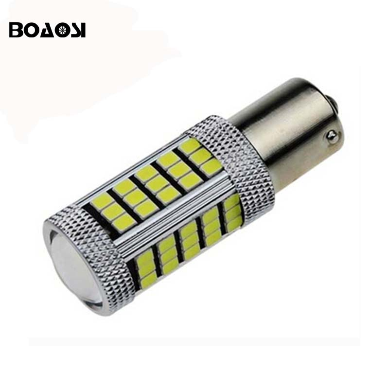 1pc 1156 P21W 2835 66SMD CREE Chips Canbus No Error Car LED Rear Reversing Tail Light Bulb cawanerl car canbus led package kit 2835 smd white interior dome map cargo license plate light for audi tt tts 8j 2007 2012