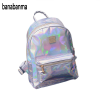 Banabanma Mochila Backpack Girls Shiny Hologram Laser PU Shoulder Bag Satchel Backpack School Bag Knapsack Fortnite