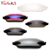 Triclicks Motorcycle 8 Wave Windshield Windscreen Wind Shield For Harley Touring Street Glide Electra Glide Ultra