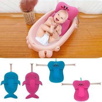 Bebé ducha cama de cojín portátil almohadilla de baño infantil antideslizante alfombra de asiento de bañera infantil suave almohadilla de Asiento de baño antideslizante alfombra de baño cuerpo Sup