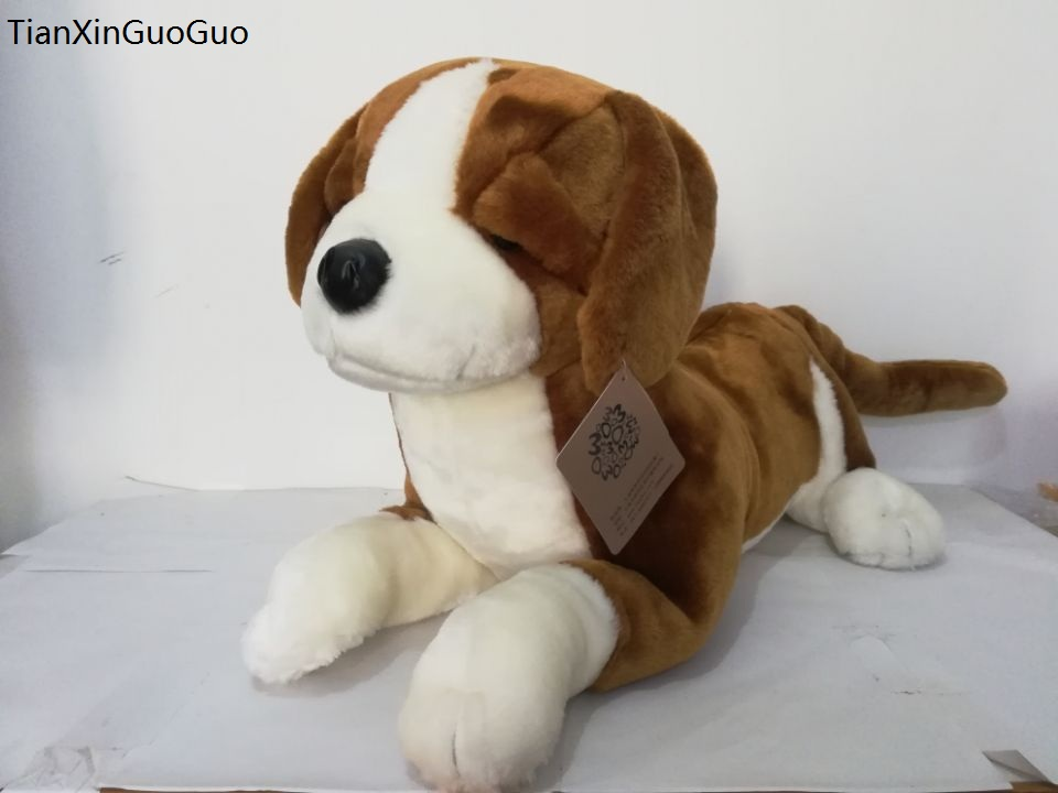 large 50x32cm lovely prone beagle plush toy soft dog doll throw pillow birthday gift w2101 big lovely simulaiton stuff beagle dog toy plush lying beagle dog doll gift about 88cm
