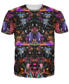 Interstellar Echolocation T-Shirt vibrant pops of color and abundant psychedelic patterns 3d print t shirt tees for women men