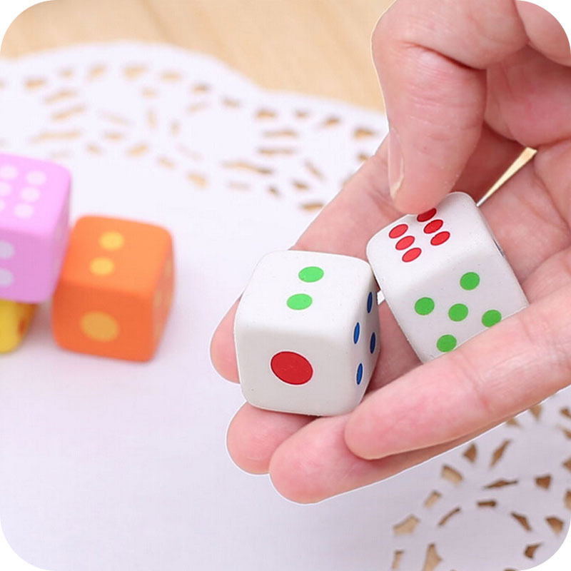 3pcs/set Mini dice Shaped Pencil Erasers Cute Novelty Pen Rubber number game Kids Gift School Stationery