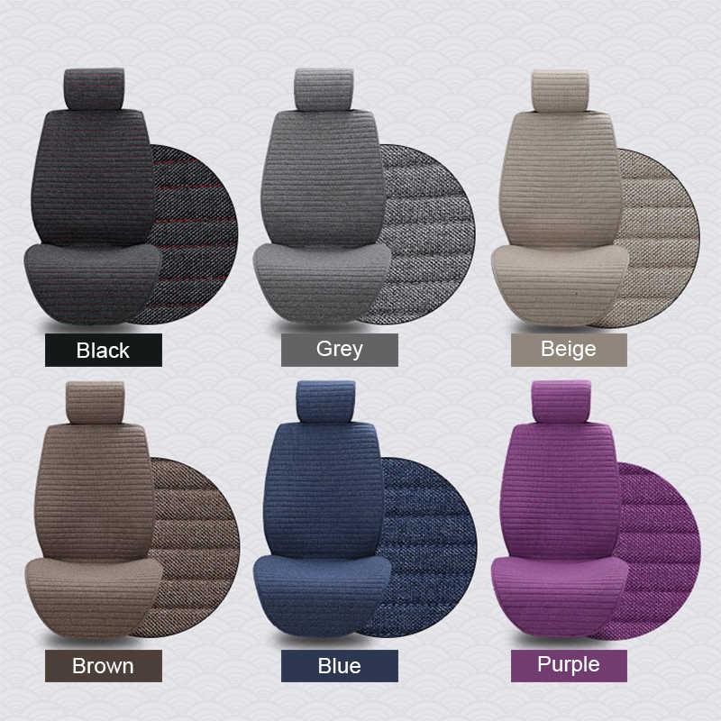 2 sztuk pokrywa mat Protect poduszki na siedzenia samochodowe uniwersalne/O SHI pokrowce na siedzenia samochodowe pasują do większości wnętrz samochodowych, ciężarówek, Suv lub Van