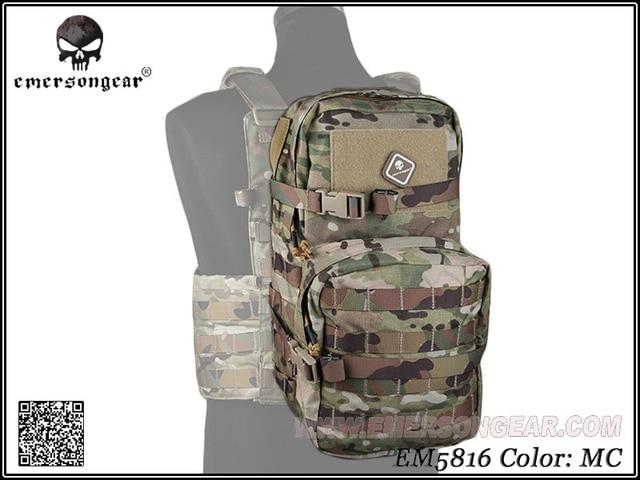 Equipo militar del ejército EMERSON, mochila de juego de guerra de senderismo, mochila de asalto Modular con bolsa de hidratación de 3L EM5816