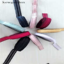 Kewgarden 25mm 1 Elastic Lace Ribbons Handmade Handband Satin Ribbon DIY Riband Garment Accessories 5M / Lot