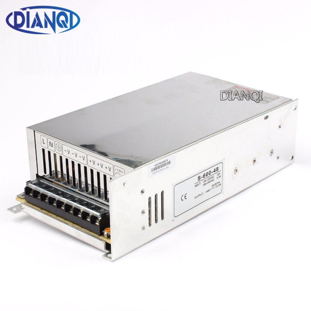 Dianqi импульсный источник питания 12 В 13,5 В 15 В 24 В 27 В 36 В 48 В 600 Вт переменного тока в источник питания постоянного тока Вход 110 V 220 V конвертер