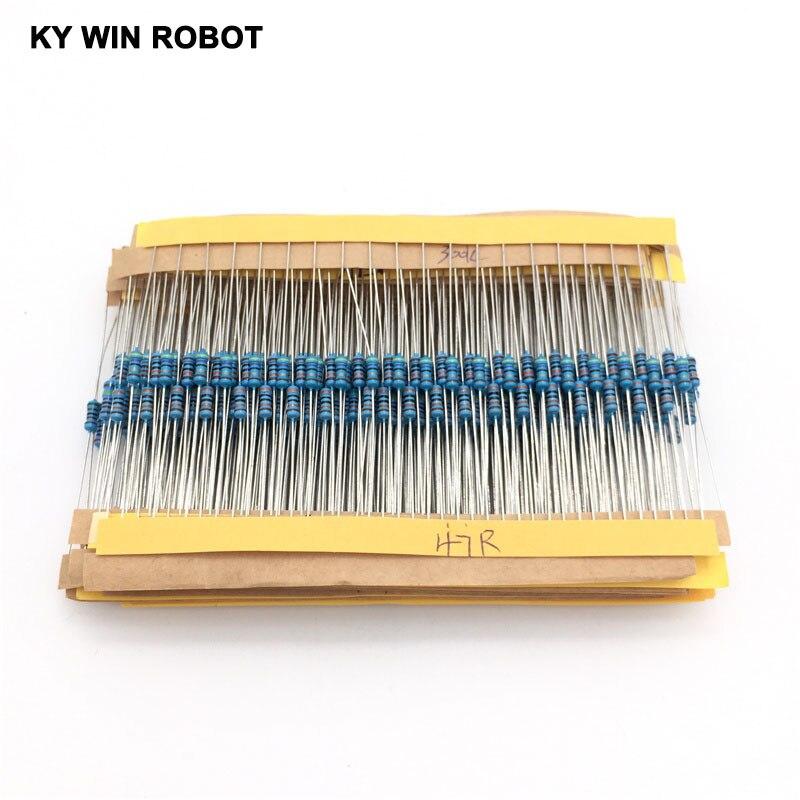 1 Pack 600Pcs 10 -1M Ohm 1/4w Resistance 1% Metal Film Resistor Resistance Assortment Kit Set 30 Kinds Each 20pcs
