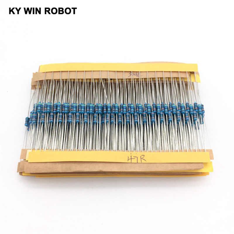 1 Pack 600Pcs 10 -1M Ohm 1/4w Resistance 1% Metal Film Resistor Resistance Assortment Kit Set 30 Kinds Each 20pcs Free Shipping