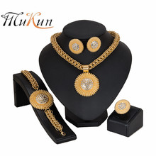MUKUN Fashion African Beads Jewelry Sets Wholesale Dubai Gold Color Brand Set Woman Costume Design statement jewelry set