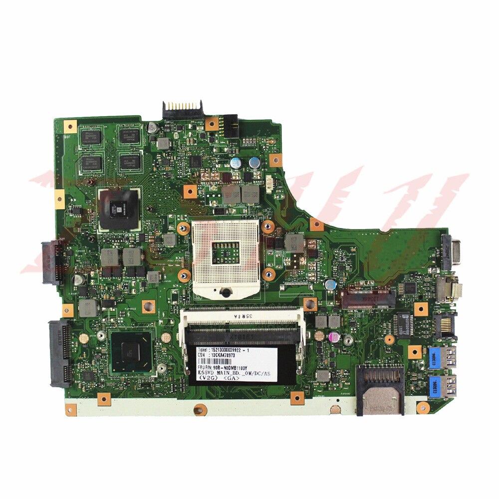 For ASUS K55A Laptop Motherboard K55VD REV3.1 Free Shipping 100% test okFor ASUS K55A Laptop Motherboard K55VD REV3.1 Free Shipping 100% test ok