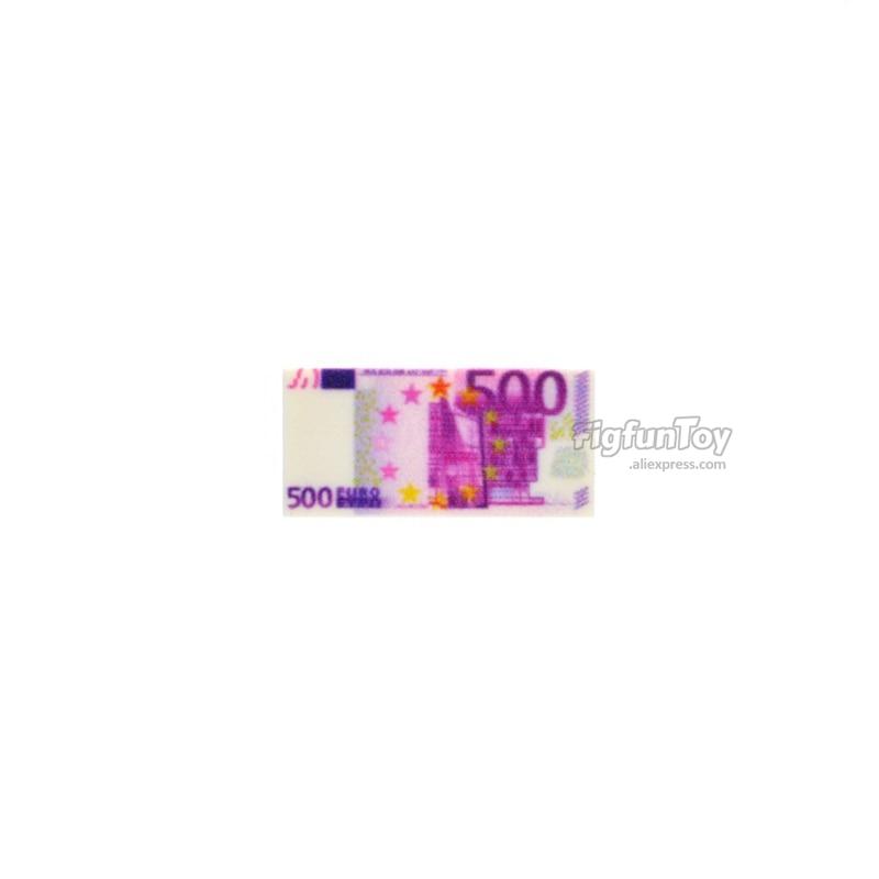 Image 5 - 10pcs/lot 1*2 Bricks US Europe Tiles Money Paper Banknote 100 Dollars EUR 500 MOC Building Blocks Toys for Children-in Blocks from Toys & Hobbies