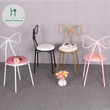 Модные стулья для гостиной в стиле Луи, современный минимализм, для творчества, для спальни, принцессы, туалетный Макияж, европейский стиль, железный Дизайн ногтей