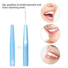 60Pcs/Box Dental Floss Picks Refill Inter-dental Brush Food Debris Remover Teeth Stick Toothpick Flosser for Oral Deep Clean