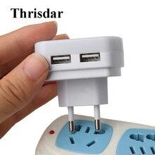 Thrisdar 5V 1A светодиодный Ночной светильник с двойной usb-зарядное Зарядное устройство штекер светильник Сенсор ЕС/США штекер розетка лампа