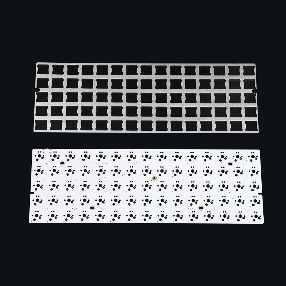 Image 2 - Placa de aluminio anodizado Idobo con diseño ortopédico de 75 teclas QMK intercambiable en caliente tipo C PCB Kit de teclado mecánicoTeclados   -