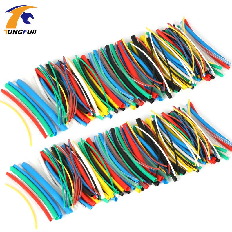 280pcs/lot termoretractil tubo 14m 2:1 colorful Tube Heat Shrink Tubing Car Cable Sleeving Assortment Wrap Wire Kit with Tube цена