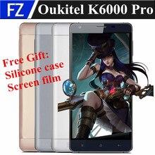 "Original K6000 OUKITEL PRO 5.5 ""OGS FHD Android 6.0 MTK6753 Octa Core 4G LTE smartphone 13MP 3 gb ram 32 gb rom dual sim 6000 mah"